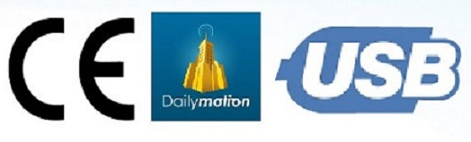 CE, DAILYMOTION and USB