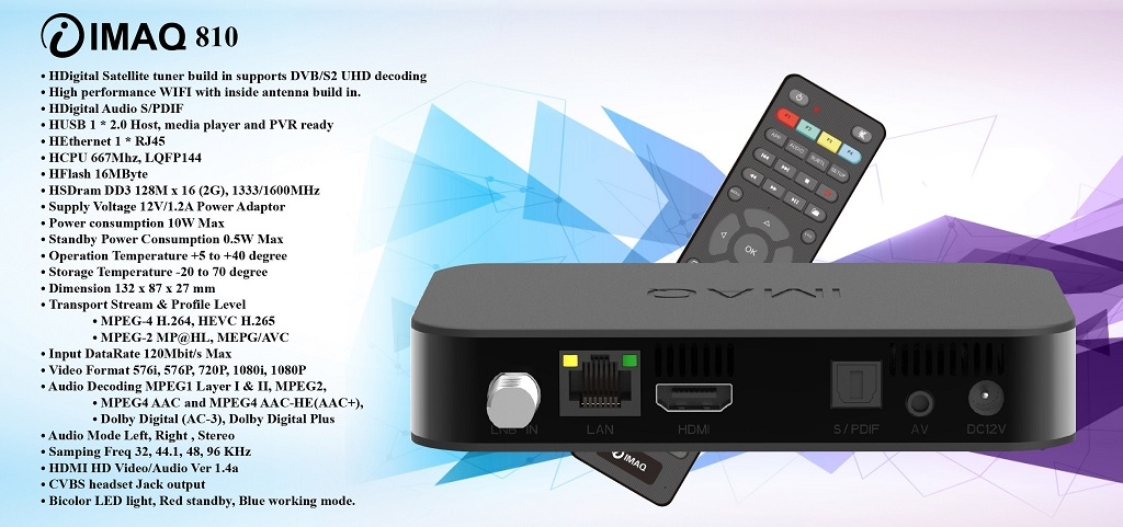 IMAQ 810 SPECIFICATIONS